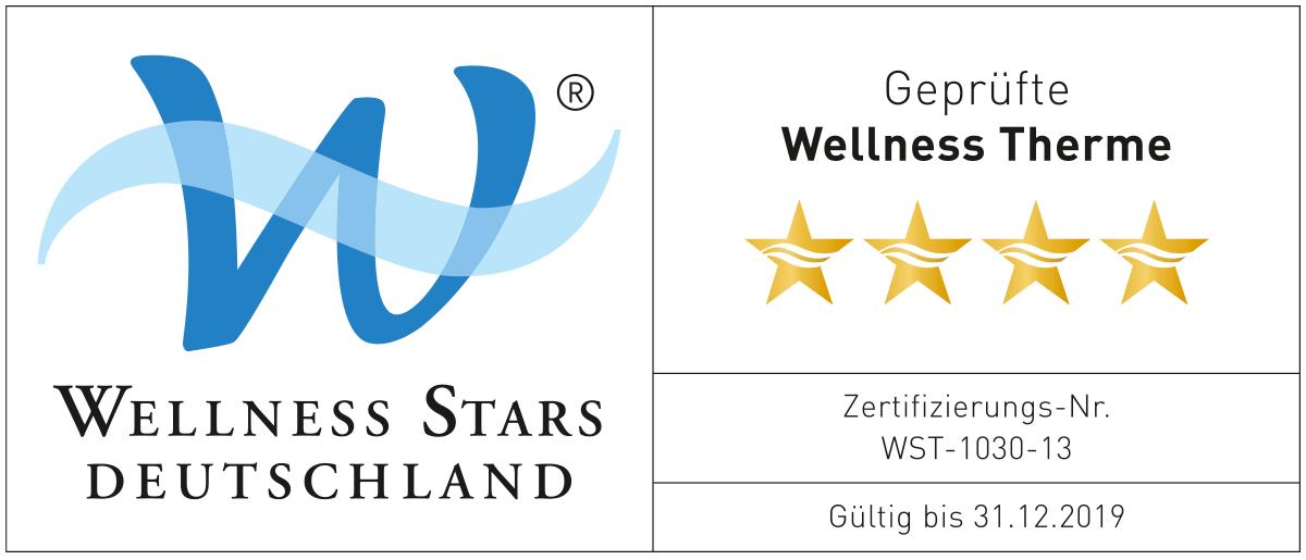 Logo von WELLNESS STARS DEUTSCHLAND GMBH und 4 Sterne Bewertung