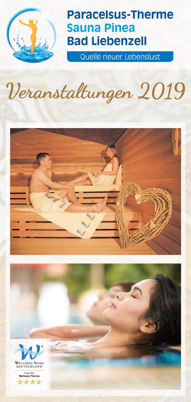 Collage mit Pärchen in Sauna und entspannter Frau im Wasser