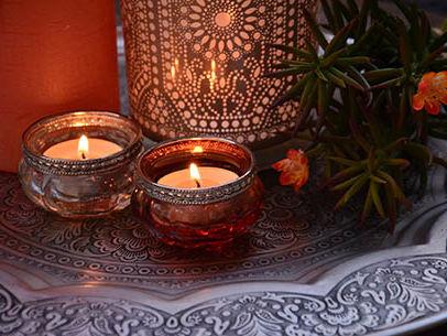 Orientalische Kerzen